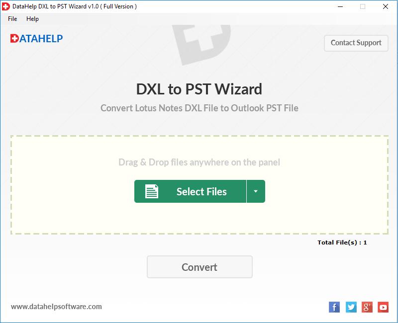DXL to PST Converter Screenshot