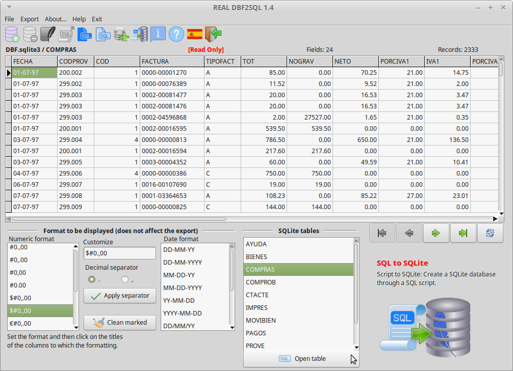 REAL DBF2SQL Screenshot 10