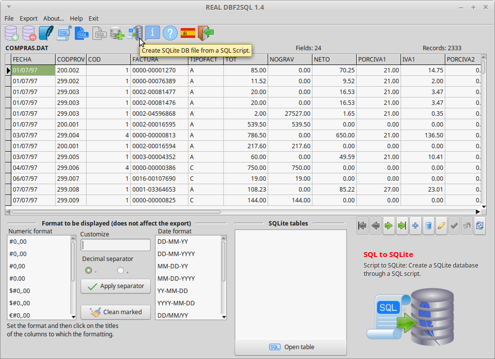 REAL DBF2SQL Screenshot 7