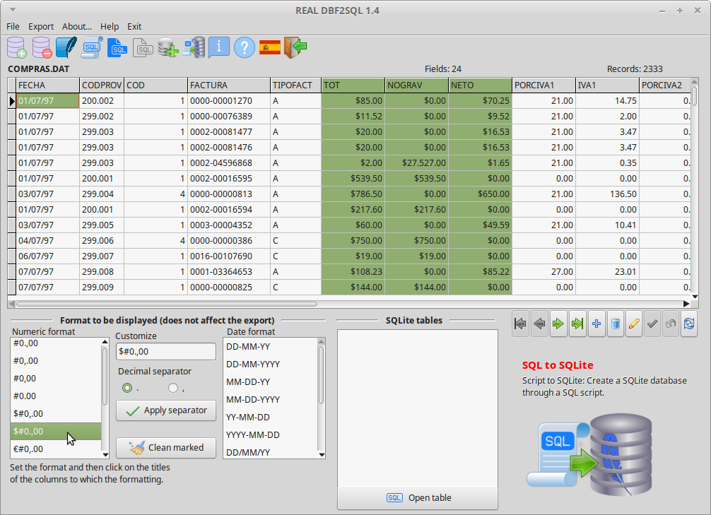 REAL DBF2SQL Screenshot 8