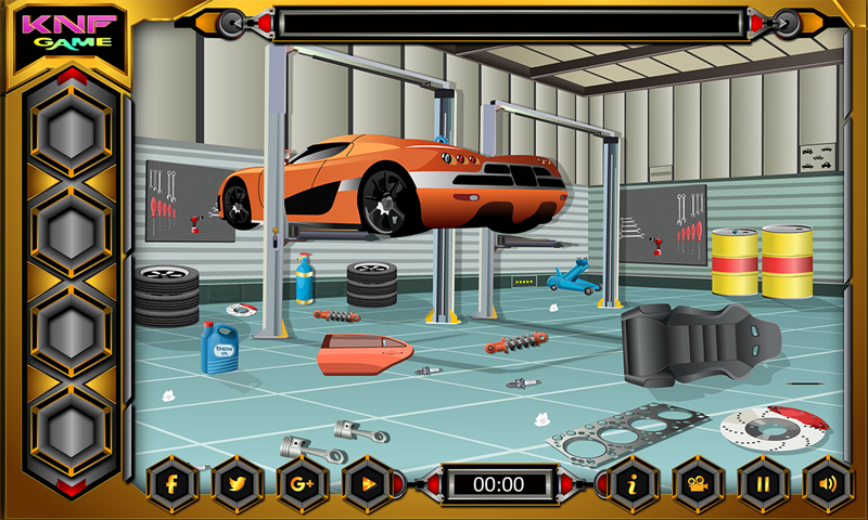 Escape Games - Car Workshop Screenshot