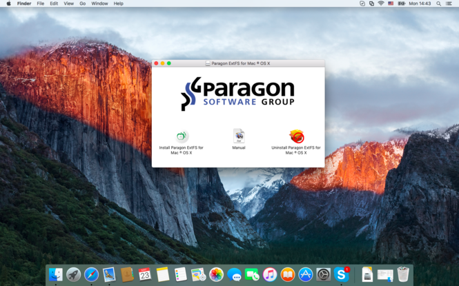 Paragon ExtFS for Mac Screenshot 1