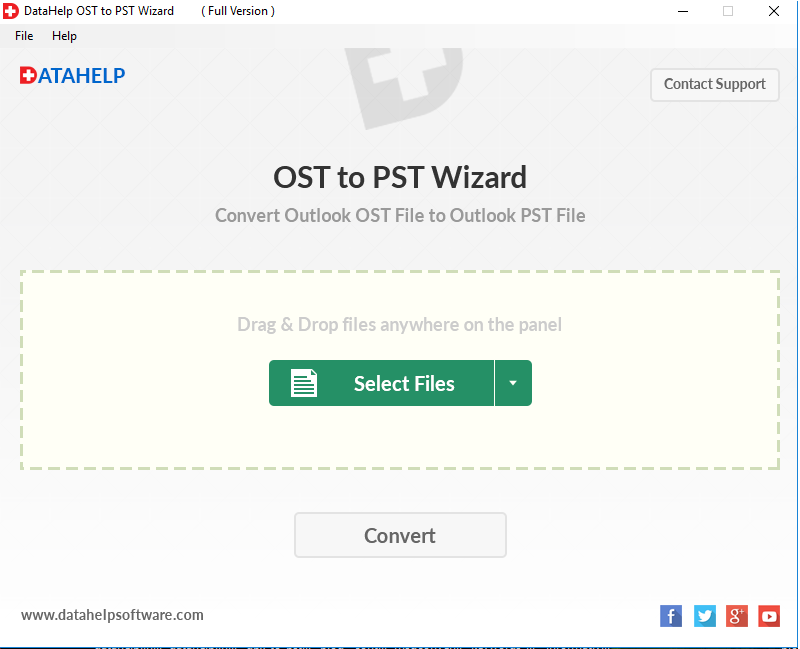 DataHelp OST to PST Converter Screenshot