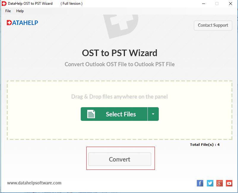 DataHelp OST to PST Converter Screenshot 3