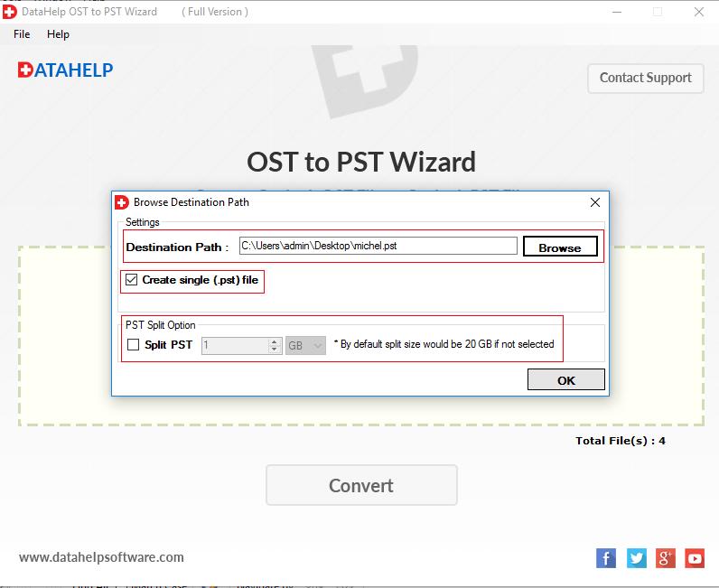 DataHelp OST to PST Converter Screenshot 4