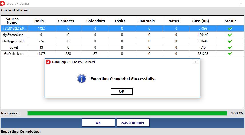 DataHelp OST to PST Converter Screenshot 5