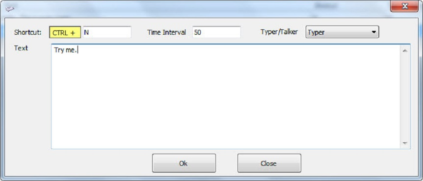 Smart Auto Typer Talker and Paste Screenshot