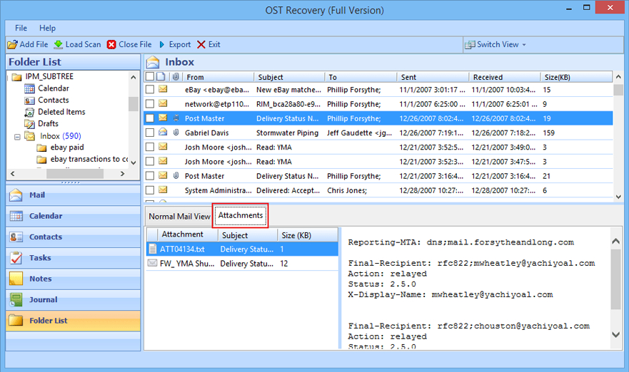 Reliable OST to PST Conversion Software Screenshot