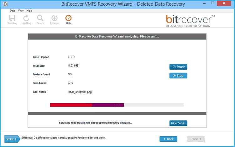 VMFS Recovery Wizard Screenshot 3
