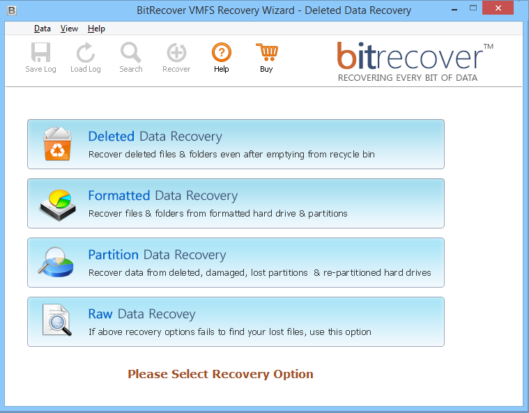 VMFS Recovery Wizard Screenshot