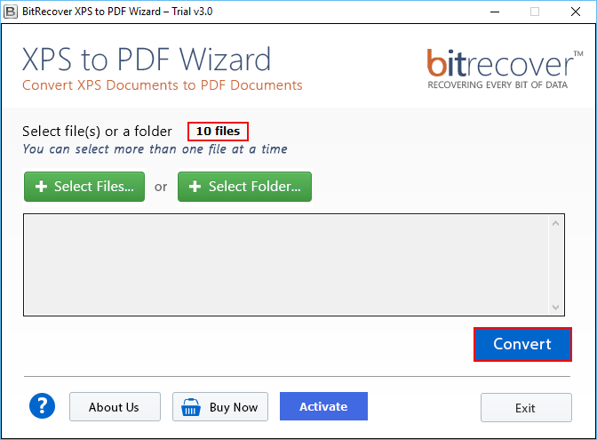XPS to PDF Wizard Screenshot 1
