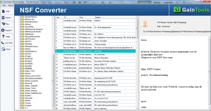 GainTools NSF to PST Converter Screenshot 1
