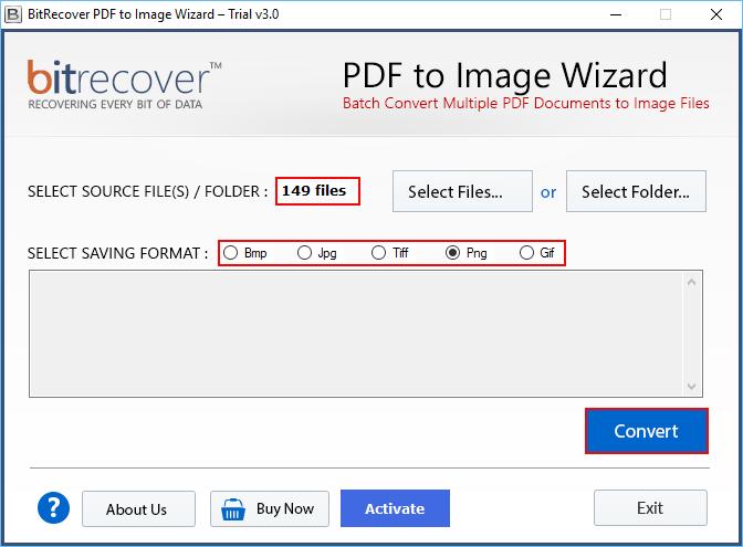 PDF to Image Wizard Screenshot 2