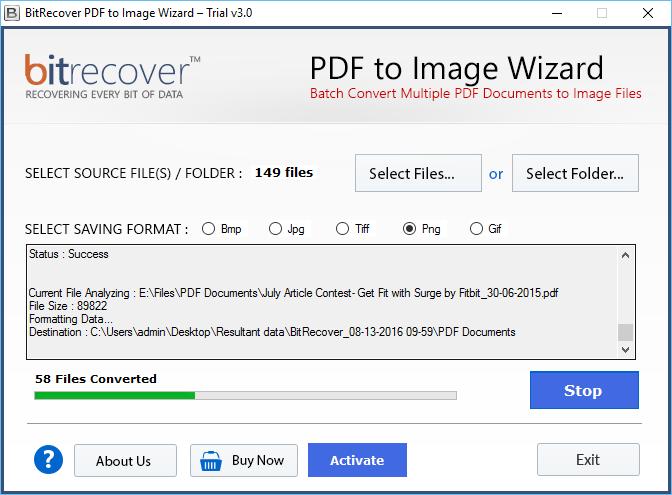 PDF to Image Wizard Screenshot 3