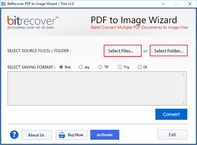 PDF to Image Wizard Screenshot