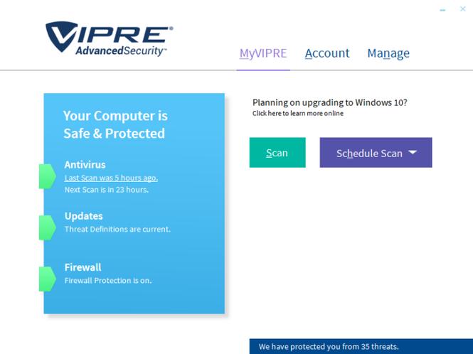 VIPRE Advanced Security Screenshot 2