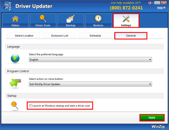 WinZip Driver Updater Screenshot 1