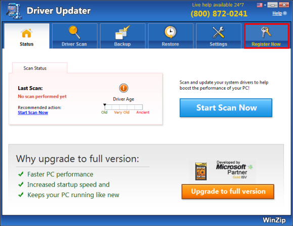 WinZip Driver Updater Screenshot 2