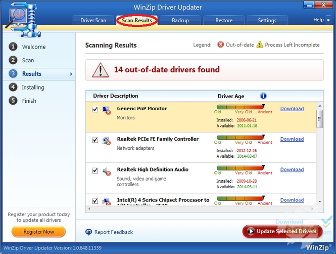WinZip Driver Updater Screenshot 4