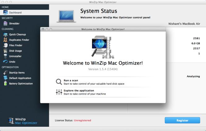 WinZip Mac Optimizer Screenshot 2