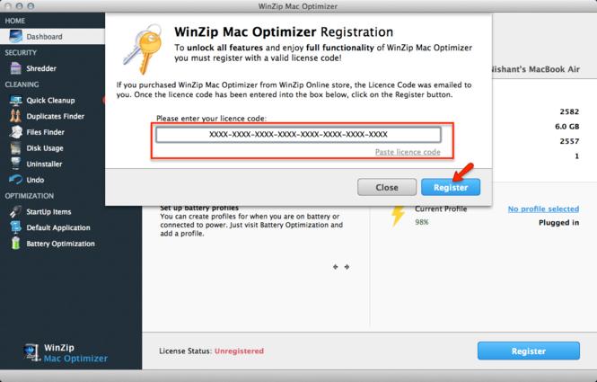 WinZip Mac Optimizer Screenshot 3