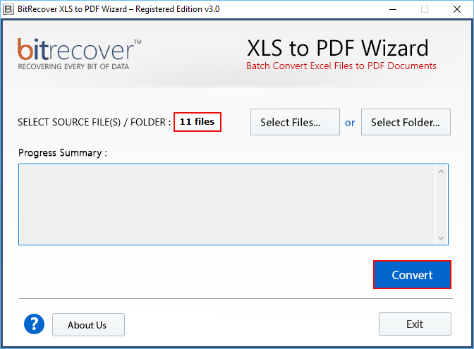 XLS to PDF Wizard Screenshot 2