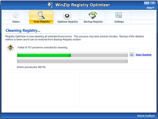 WinZip Registry Optimizer Screenshot 3