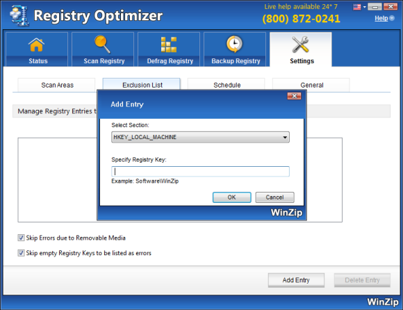 WinZip Registry Optimizer Screenshot 5