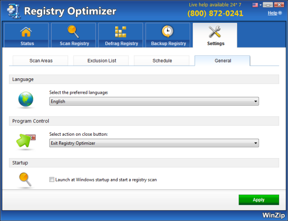 WinZip Registry Optimizer Screenshot 6