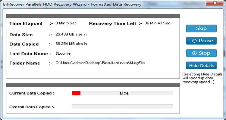 Parallels HDD Recovery Wizard Screenshot 4