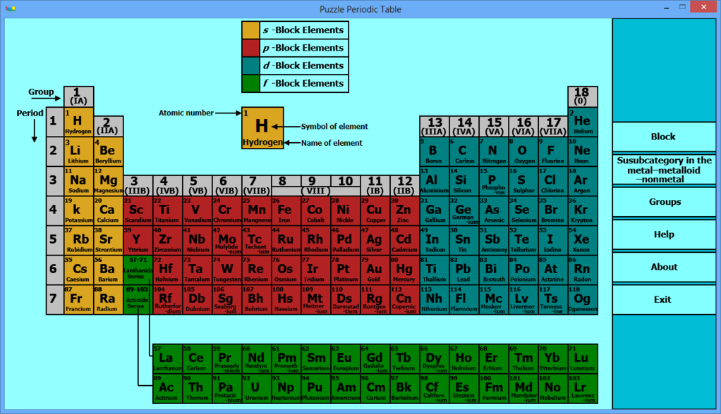 Puzzle Periodic Table Screenshot 4