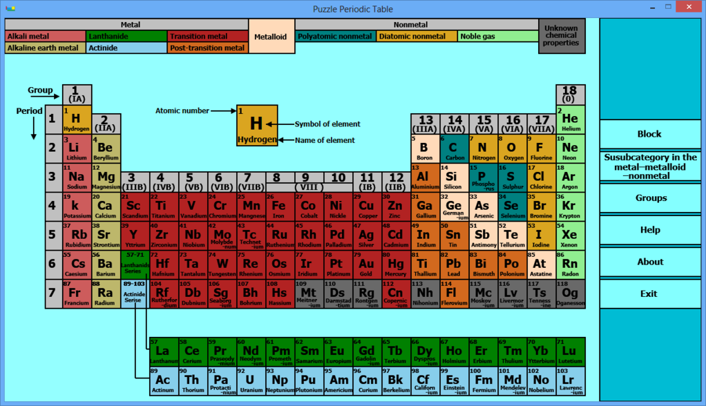 Puzzle Periodic Table Screenshot 2