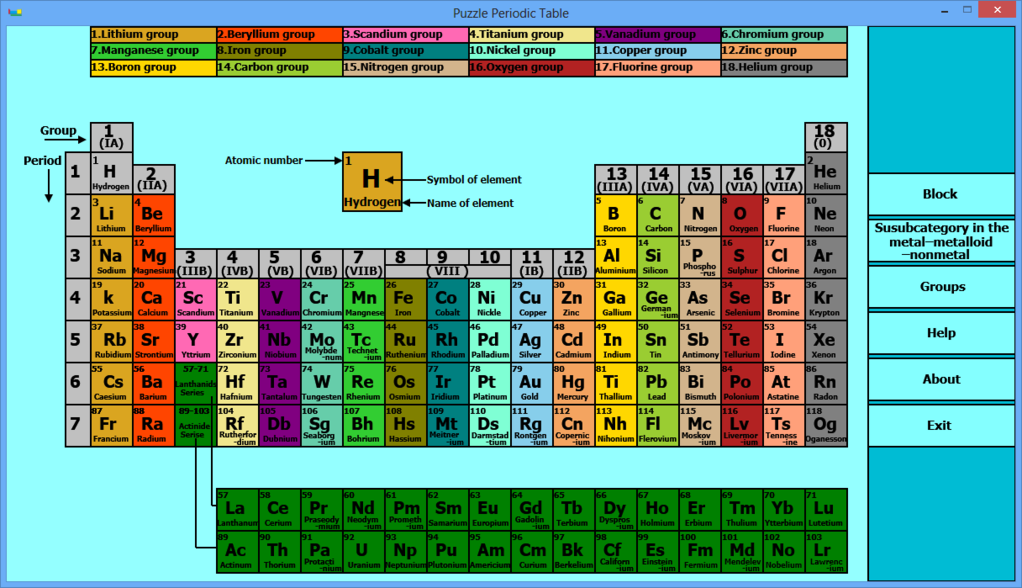 Puzzle Periodic Table Screenshot 3