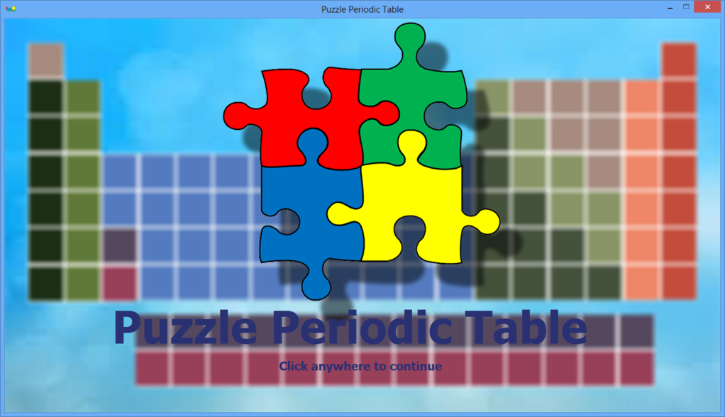 Puzzle Periodic Table Screenshot