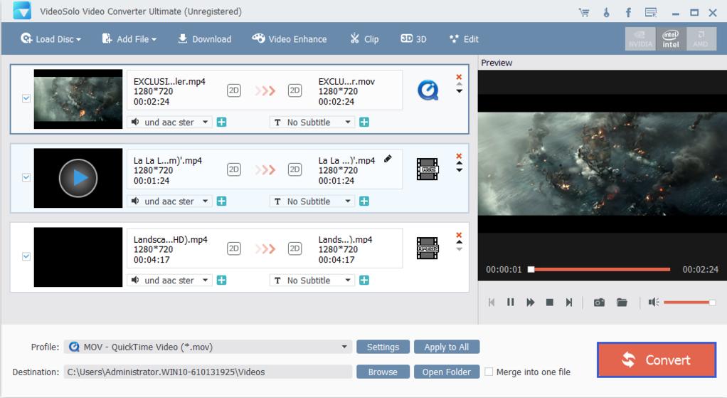 VideoSolo Video Converter Ultimate Screenshot 4