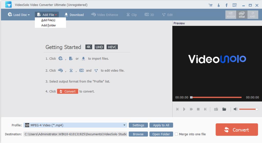VideoSolo Video Converter Ultimate Screenshot 2