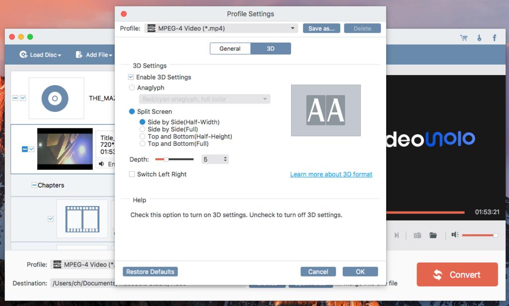 VideoSolo Video Converter Ultimate (Mac) Screenshot 4