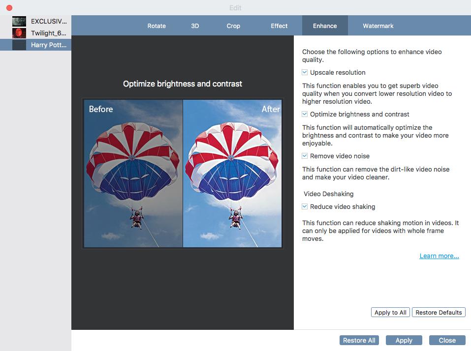VideoSolo Video Converter Ultimate (Mac) Screenshot 5