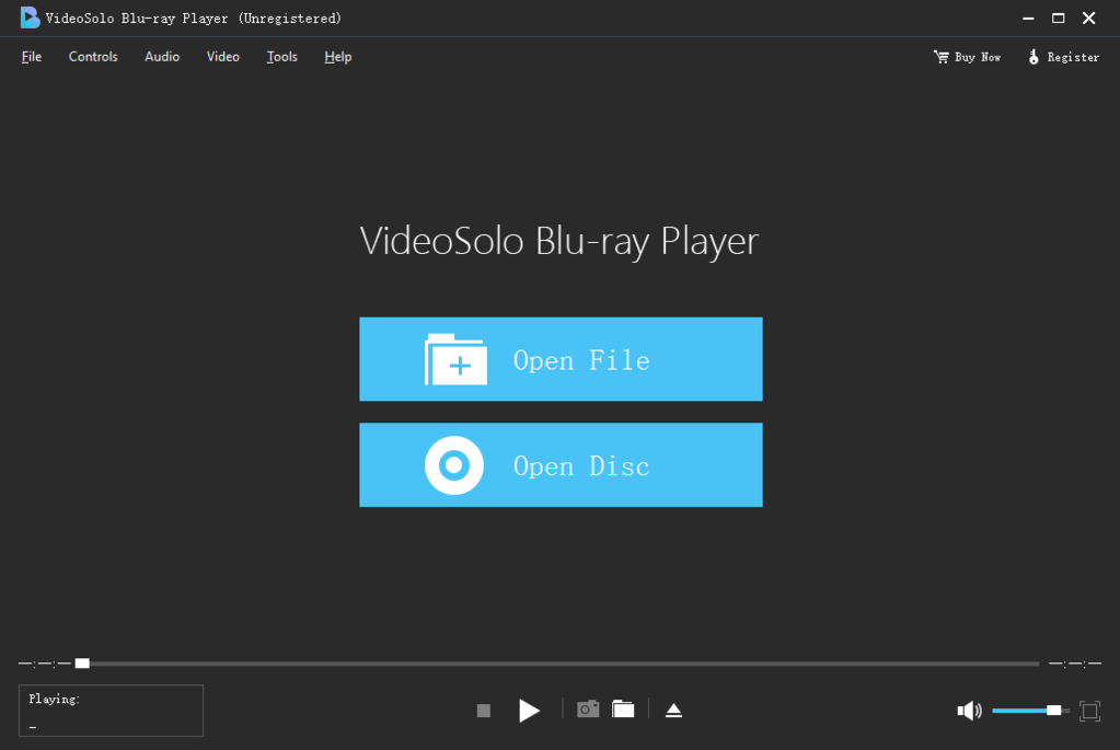 VideoSolo Blu-ray Player Screenshot