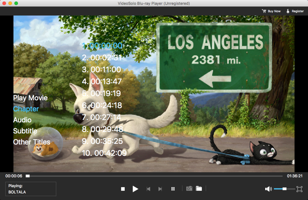 VideoSolo Blu-ray Player (Mac) Screenshot 3