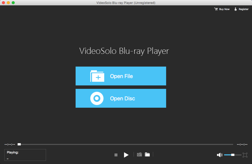 VideoSolo Blu-ray Player (Mac) Screenshot