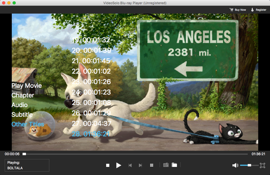 VideoSolo Blu-ray Player (Mac) Screenshot 2