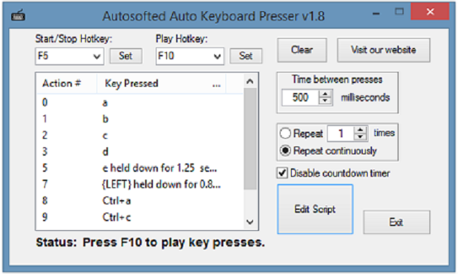 Auto Keyboard Presser by Autosofted Screenshot 1