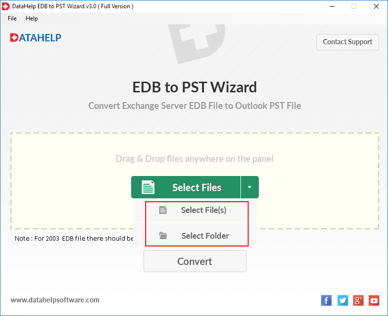 DataHelp EDB to PST Converter Screenshot 2