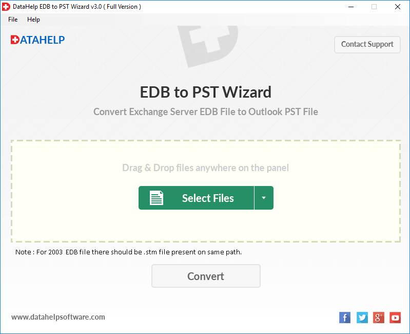 DataHelp EDB to PST Converter Screenshot 1