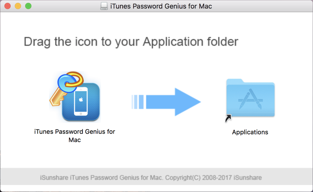 iSunshare iTunes Password Genius for Mac Screenshot 1
