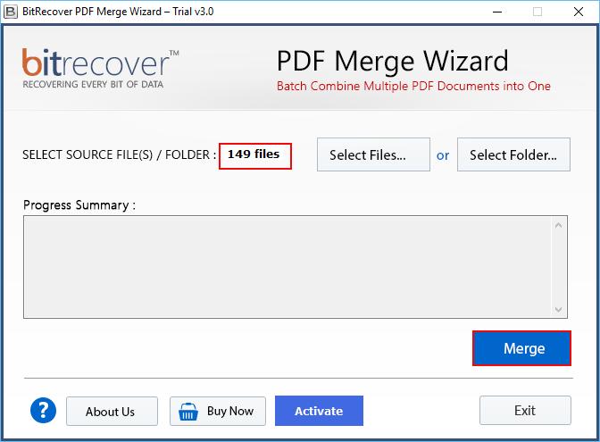 PDF Merge Wizard Screenshot 2