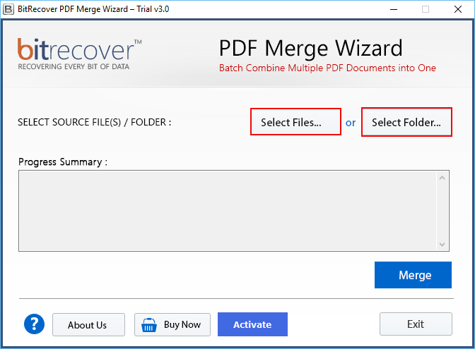 PDF Merge Wizard Screenshot
