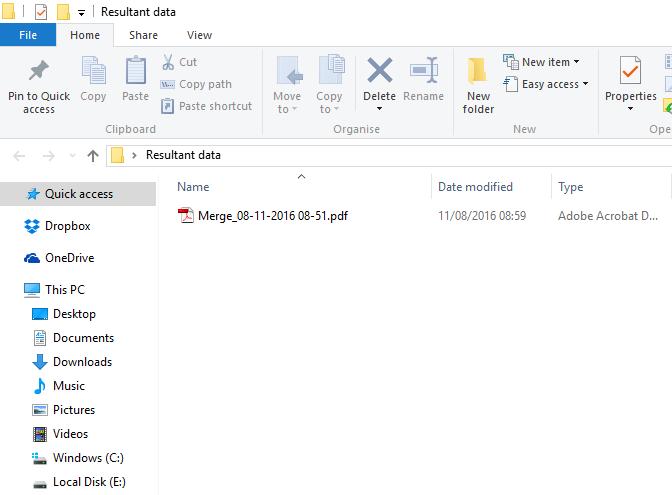 PDF Merge Wizard Screenshot 4