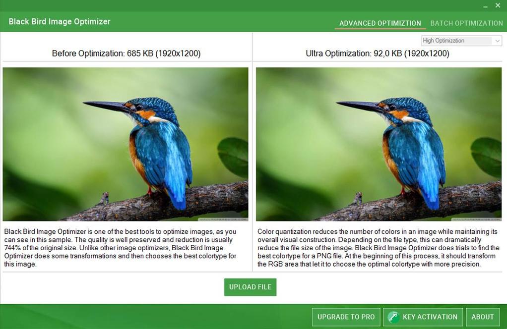 Black Bird Image Optimizer Screenshot 2